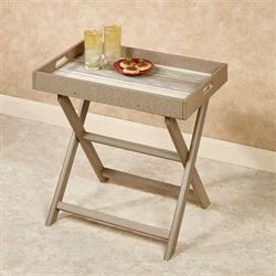 Delmar Serving Tray with Stand Taupe