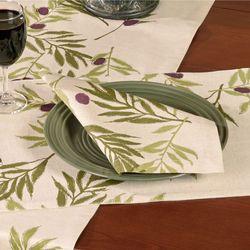 Olives Table Runner Ivory