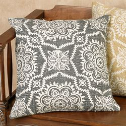Samora Charcoal Decorative Pillow 18 Square