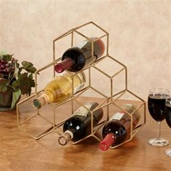 Hexagonal Wine Bottle Rack Tan