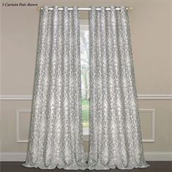 Florence Wide Grommet Curtain Pair Dark Gray 104 x 84
