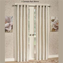 Florence Wide Grommet Curtain Pair Ivory 104 x 84