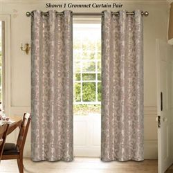 Duchess Grommet Curtain Pair Dusty Mauve