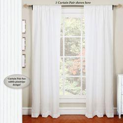 Darlington Semi Sheer Curtain Pair White 76 x 84