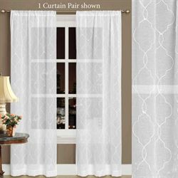 Audrey Semi Sheer Curtain Pair White
