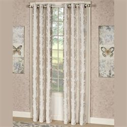 Renee Grommet Curtain Pair Ecru 76 x 84