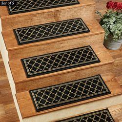 Bruges Stair Treads Black Set of Five