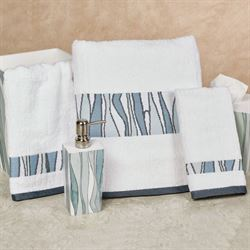 Tidelines Bath Towel Set White Bath Hand Fingertip