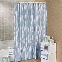 Tidelines Shower Curtain Blue Shadow 70 x 72
