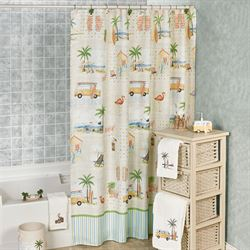 Shorething Shower Curtain Multi Cool 70 x 72