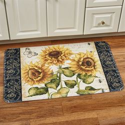 French Sunflower Cushioned Rectangle Mat Multi Bright 35 x 23