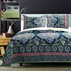 Cleo Quilt Set Midnight Blue