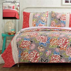 Jewel Rose Quilt Set Multi Bright