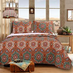 Ophelia Quilt Set Vermillion