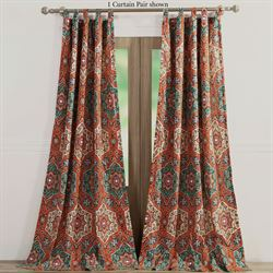 Ophelia Tab Top Curtain Pair Vermillion 84 x 84