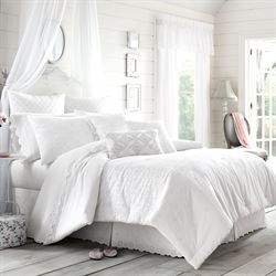 Lucy Eyelet Comforter Set White