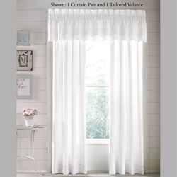 Lucy Eyelet Tailored Curtain Pair White 82 x 84
