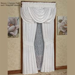 Carmella Tailored Curtain Pair White 98 x 84