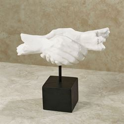 Handshake Table Sculpture White