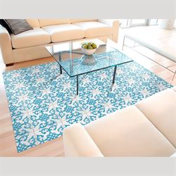 Bantu Bay Extra Large Floor Mat Blue 66 x 46