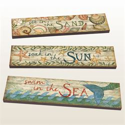 Sun Sea Sand Art Planks Multi Earth Set of Three