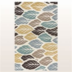 Leaflet Rectangle Rug Multi Earth