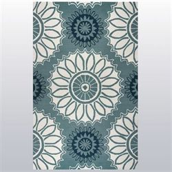 Halcyon Rectangle Rug Aqua Mist