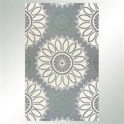 Halcyon Rectangle Rug Gray