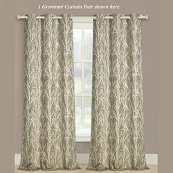 Tamara Grommet Curtain Pair Antique Gold