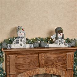 Snow Buddies Draft Stoppers White Set of Two
