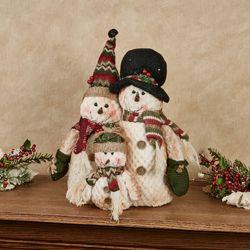 Rustic Snowman Family Figure Multi Warm