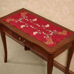 Golden Stockings Table Runner Multi Warm 16 x 36