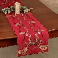 Golden Stockings Long Table Runner Multi Warm 13 x 65