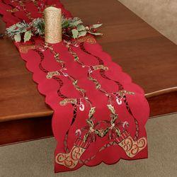 Golden Stockings Long Table Runner Multi Warm 13 x 65