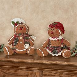 Jolly Gingerbread Kids Sitters Brown Set of Two