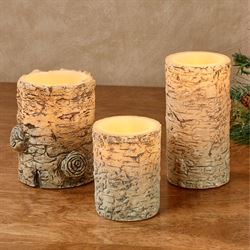 Birch LED Flameless Candles Multi Warm Set of Three