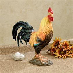 Wild Rooster Table Sculpture Multi Warm