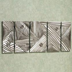 Discordance Wall Art Aged Silver