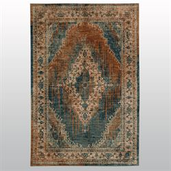Le Basque Rectangle Rug Blue