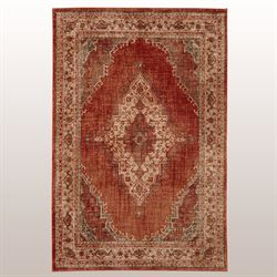 Le Basque Rectangle Rug Rust