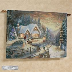 Country Christmas Homecoming Wall Tapestry Multi Warm