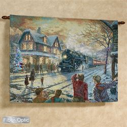 All Aboard for Christmas Wall Tapestry Multi Warm