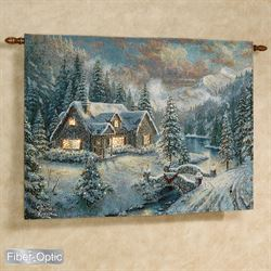 High Country Christmas Wall Tapestry Multi Cool