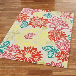 Happy Place Rectangle Rug Multi Bright