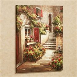 Exceptional Tuscan Flowers Canvas Wall Art