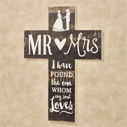 Mr and Mrs Cross Wall Art Brown