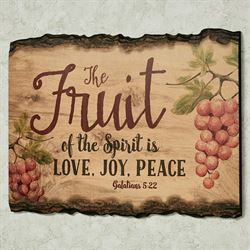 Fruit of the Spirit Wall Art Brown