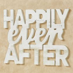 Happily Ever After Word Wall Art Ivory