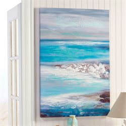 Crashing Waves I Canvas Wall Art Multi Cool