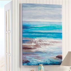 Crashing Waves II Canvas Wall Art Multi Cool